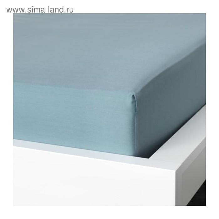 Простыня на резинке НАТТЭСМИН, размер 180х200 см, цвет синий