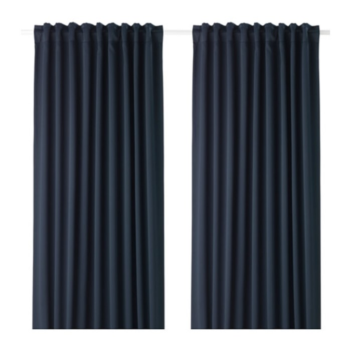 Гардины МАЙГУЛЛ, размер 145х300 см-2 шт., цвет тёмно-синий