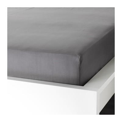 Простыня на резинке УЛЛЬВИДЕ, размер 160х200 см, цвет серый