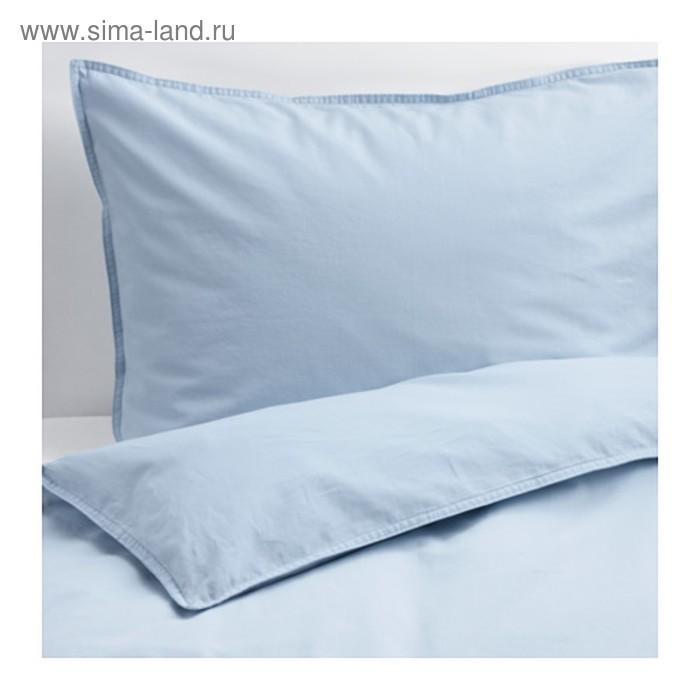 КПБ ЭНГСЛИЛЬЯ, размер 200х200 см, 50х70 см-2 шт., цвет голубой