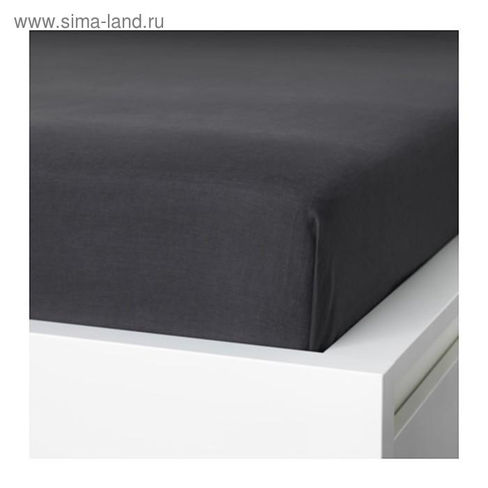 Простыня ПУДЕРВИВА, размер 240х260 см, цвет тёмно-серый