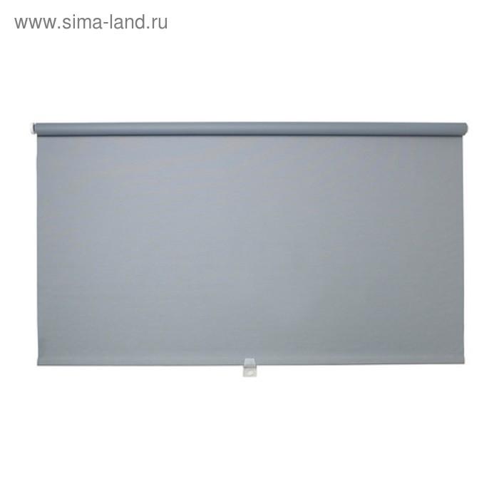 Штора рулонная ТУППЛЮР, размер 140х195 см, цвет серый