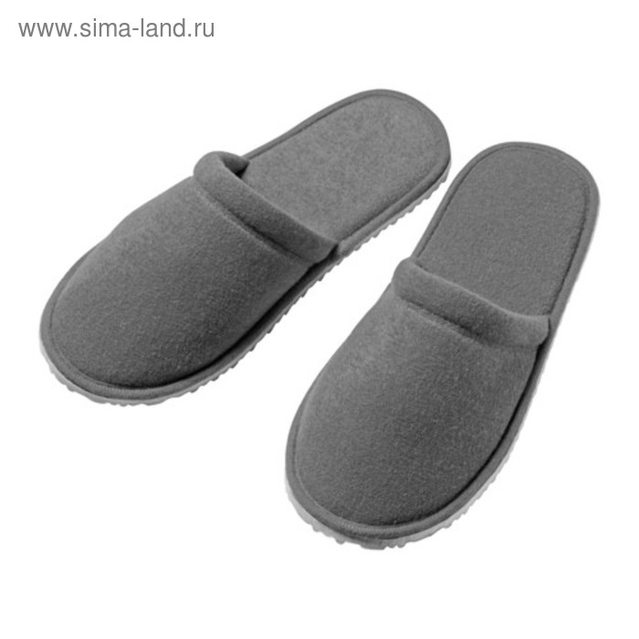 Тапочки домашние НЬЮТА, размер 40-43, цвет серый