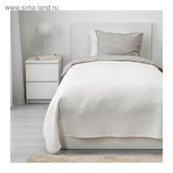 Покрывало ВОРЕЛЬД, размер 150х250 см, цвет белый