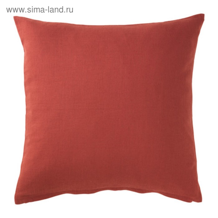 Чехол на подушку ВИГДИС, размер 50х50 см, цвет красно-оранжевый