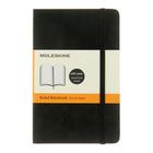 Блокнот 90х140 мм, 96 листов Moleskine Classic Soft, мягкая обложка, тонированный блок в линейку, чёрный