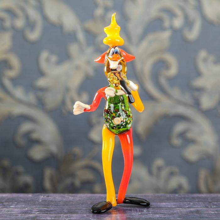 """Сувенир из стекла """"Клоун со скрипкой"""", 9 х 8 х 18 см"""