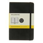 Блокнот 90х140 мм, 96 листов Moleskine Classic Soft, мягкая обложка, тонированный блок в клетку, чёрный