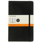 Блокнот 130х210 мм, 96 листов Moleskine Classic Soft, мягкая обложка, тонированный блок в линейку, чёрный