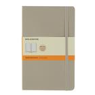 Блокнот 130х210 мм, 96 листов Moleskine Classic Soft, мягкая обложка, тонированный блок в линейку, бежевый