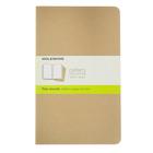 Блокнот 130х210 мм, 40 листов Moleskine Cahier Journal Large, обложка крафт-картон, нелинованный блок, бежевый