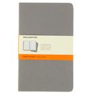 Блокнот 130х210 мм, 40 листов Moleskine Cahier Journal Large, обложка картон, тонированный блок в линейку, серый