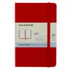 Блокнот для рисования 90х140 мм, 40 листов Moleskine Classic Sketchbook, картонная обложка, нелинованный блок, краcный