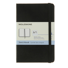 Блокнот для рисования 90х140 мм, 40 листов Moleskine Classic Sketchbook Pocket, картонная обложка, нелинованный блок, чёрный