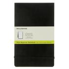 Блокнот 130х210 мм, 120 листов Moleskine Reporter, твердая обложка, нелинованный блок, чёрный