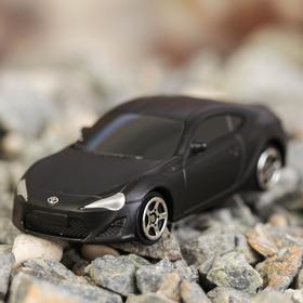 Машина металлическая Toyota 86, масштаб 1:64, без механизмов, черный матовый цвет