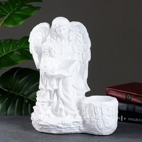 """Фигурное кашпо """"Дева ангел с ребенком"""", белый 35см"""