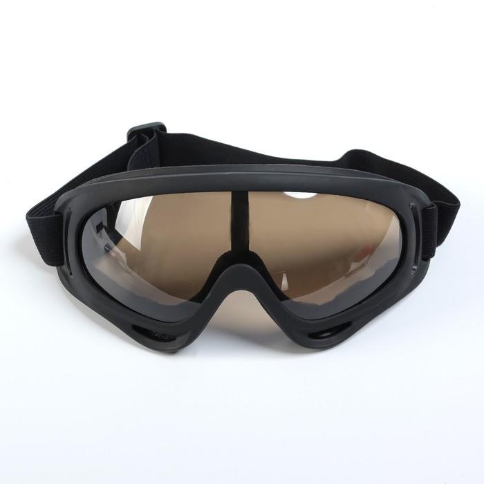 Очки для езды на мототехнике, светло-коричневые