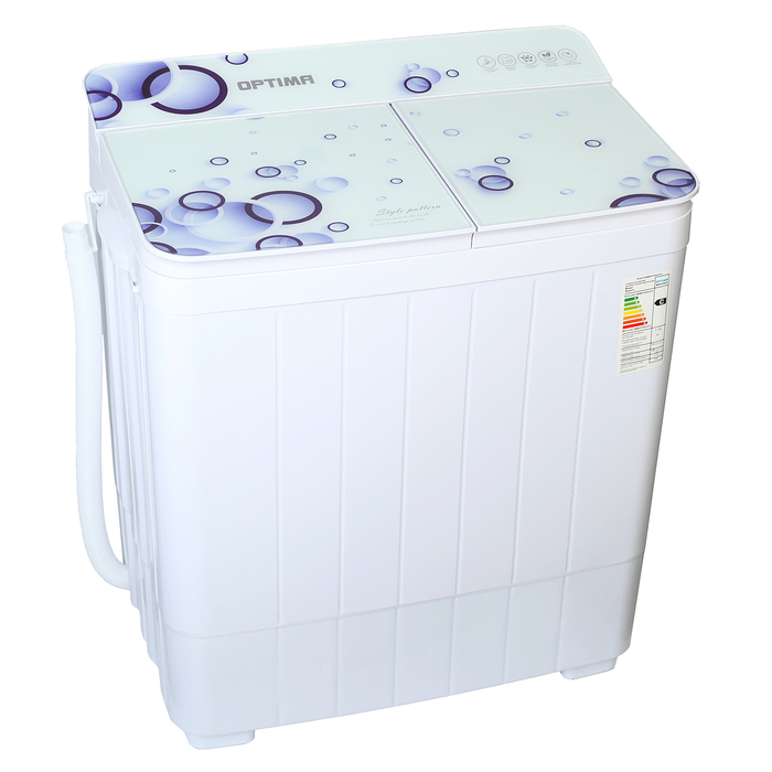 Стиральная машина OPTIMA МСП-35СТ, полуавтомат, до 3.5 кг, 1350 об/мин, белая
