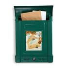 Ящик почтовый «Декор», вертикальный, с замком, зелёный
