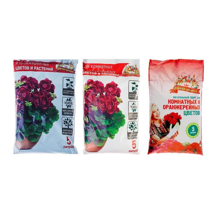 """Грунт """"Царица Цветов"""" для комнатных, оранжерейных и декоративных цветов и растений, 5 л."""