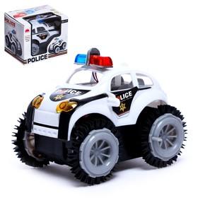 Машина-перевёртыш «Полиция», работает от батареек, световые эффекты