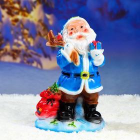 """Фигурка """"Дед мороз малый"""" синий 22х34см"""