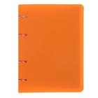 Тетрадь на кольцах А5, 80 листов, пластик оранжевый