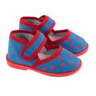 Туфли домашние детские арт. 13-13Б (голубой/красный) (р. 26)