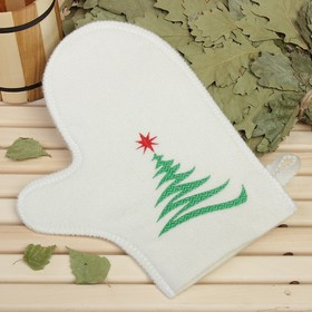 """Bath glove with embroidery """"Tree"""", first grade"""