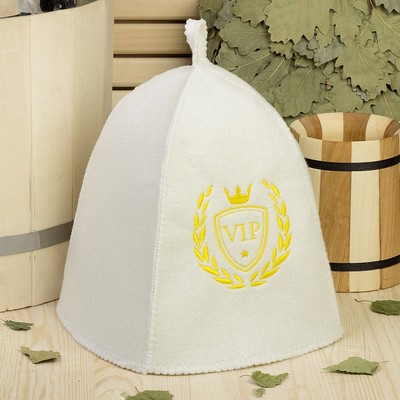 Bath cap with embroidery VIP, first grade