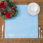 "Салфетка кухонная ""Snow-flake"" ПЦ-355-3120,50х50, цв. 135, голубой, хл.100%, 224  гр/м2"