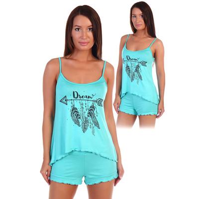 Пижама женская (майка, шорты) Мизуки цвет МИКС, р-р 46   вискоза