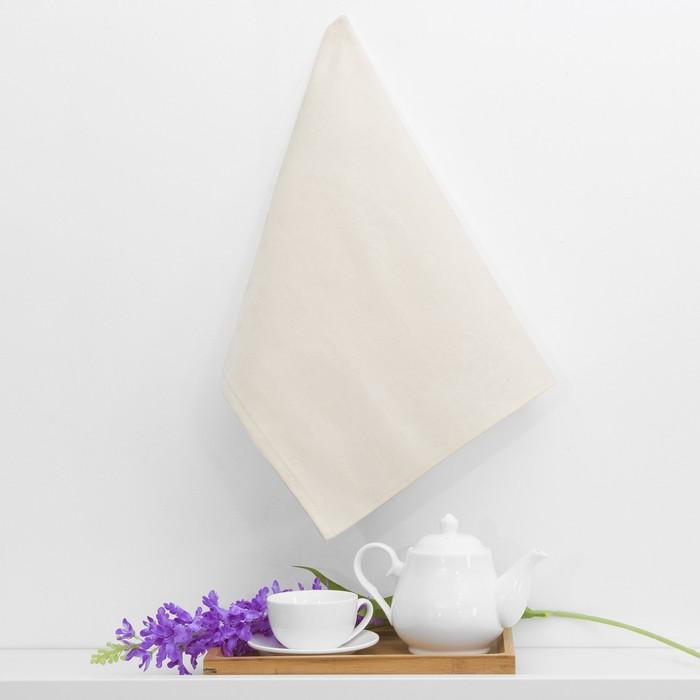 """Полотенце кухонное """"Snow flakes"""", 50х70, цвет молочный"""