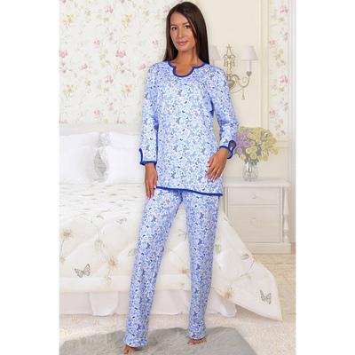 Пижама женская (джемпер, брюки) Нега цвет МИКС, р-р 46