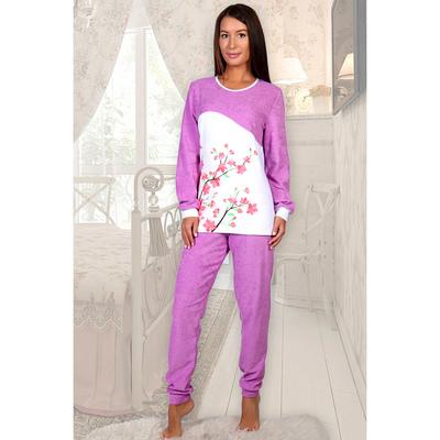 Пижама женская (джемпер, брюки) Юнона цвет лиловый, р-р 52