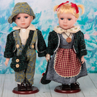 """Кукла коллекционная """"Парочка губки бантиком. Катя и Слава"""" (набор 2 шт) 30 см"""