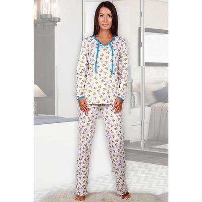 Пижама женская (джемпер, брюки) Янтарь цвет белый, р-р 44