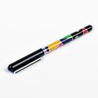 Ручка гелевая, 0.5 мм, чёрная, игольчатый пишущий узел, «Тропики»