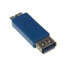 Переходник 5bites UA-3003, USB3.0, A(f)-microUSB(m), синий
