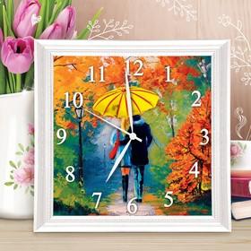 Картина по номерам - часы «Влюблённые», 30х30 см