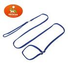 Ринговка из нейлона с металлическими фиксаторами, общая длина 175 см, штрина 1 см, синяя