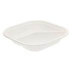 Набор тарелок 2-секционных, 18х18 см, цвет белый, 6 шт