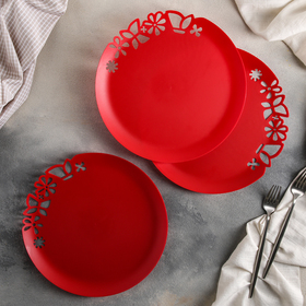 Set of dishes 13.5 cm, with an openwork edge, 3 PCs, MIX color