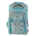 Рюкзак школьный эргономичная спинка для девочки Across G15 44*30*14 серый/голубой G15-8
