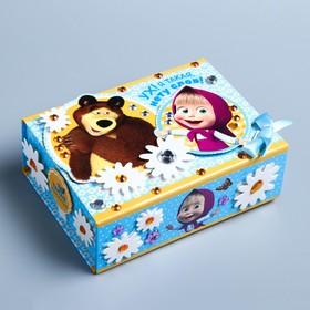 """Шкатулка для декорирования """"Ух! Я такая, нету слов"""", Маша и Медведь"""
