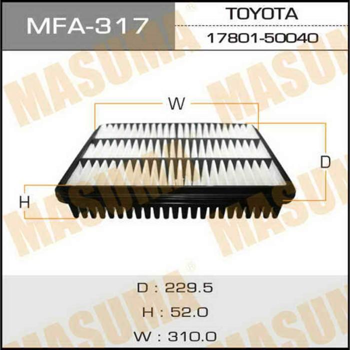 Фильтр воздушный Masuma MFA317