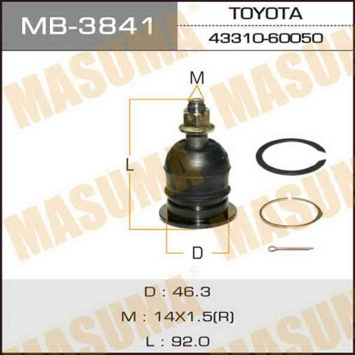 Шаровая опора Masuma MB3841, Toyota 48610-60030