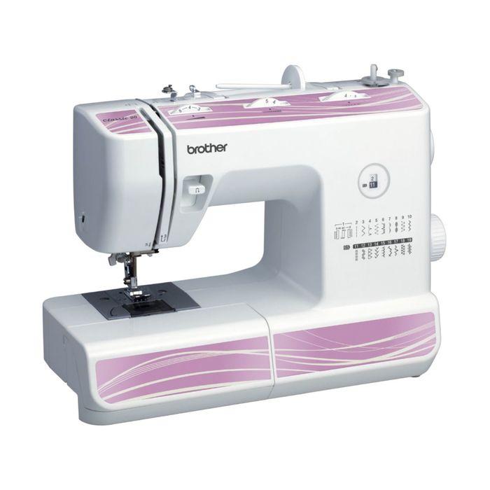 Швейная машина Brother Classic 20, 19 операций, макси-узоры, белая