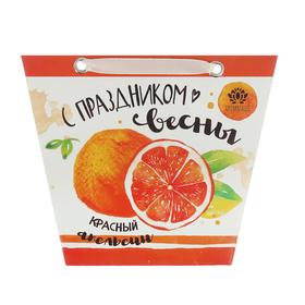 """Аромасаше в сумочке """"С праздником весны"""" с ароматом красного апельсина"""